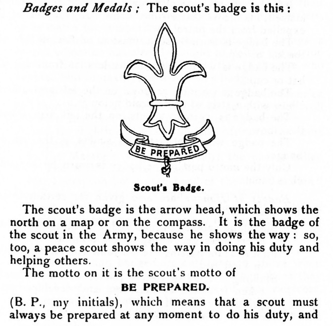 Badge the scout meaning of Boy Scout